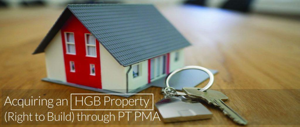 Acquiring an HGB property through PT PMA